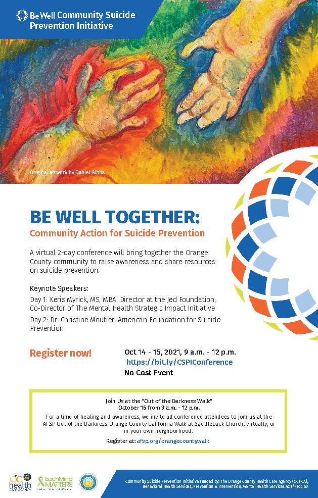 Be Well Together: Community Action for Suicide Prevention