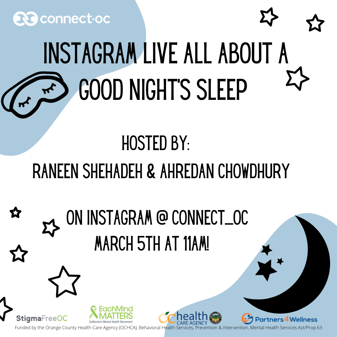 Instagram Live: The Importance of Sleep and Mental Health