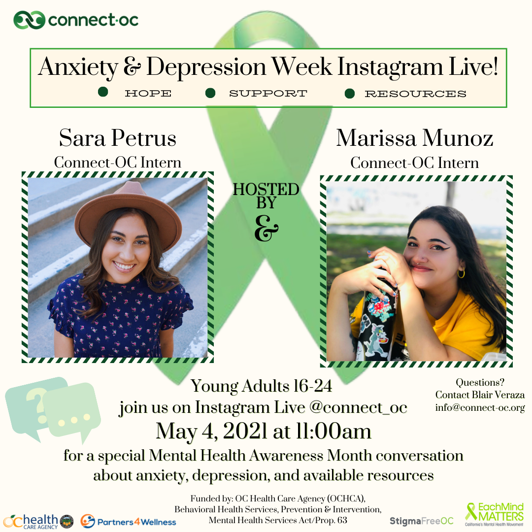 Instagram Live: Anxiety and Depression, A Mental Health Month Special