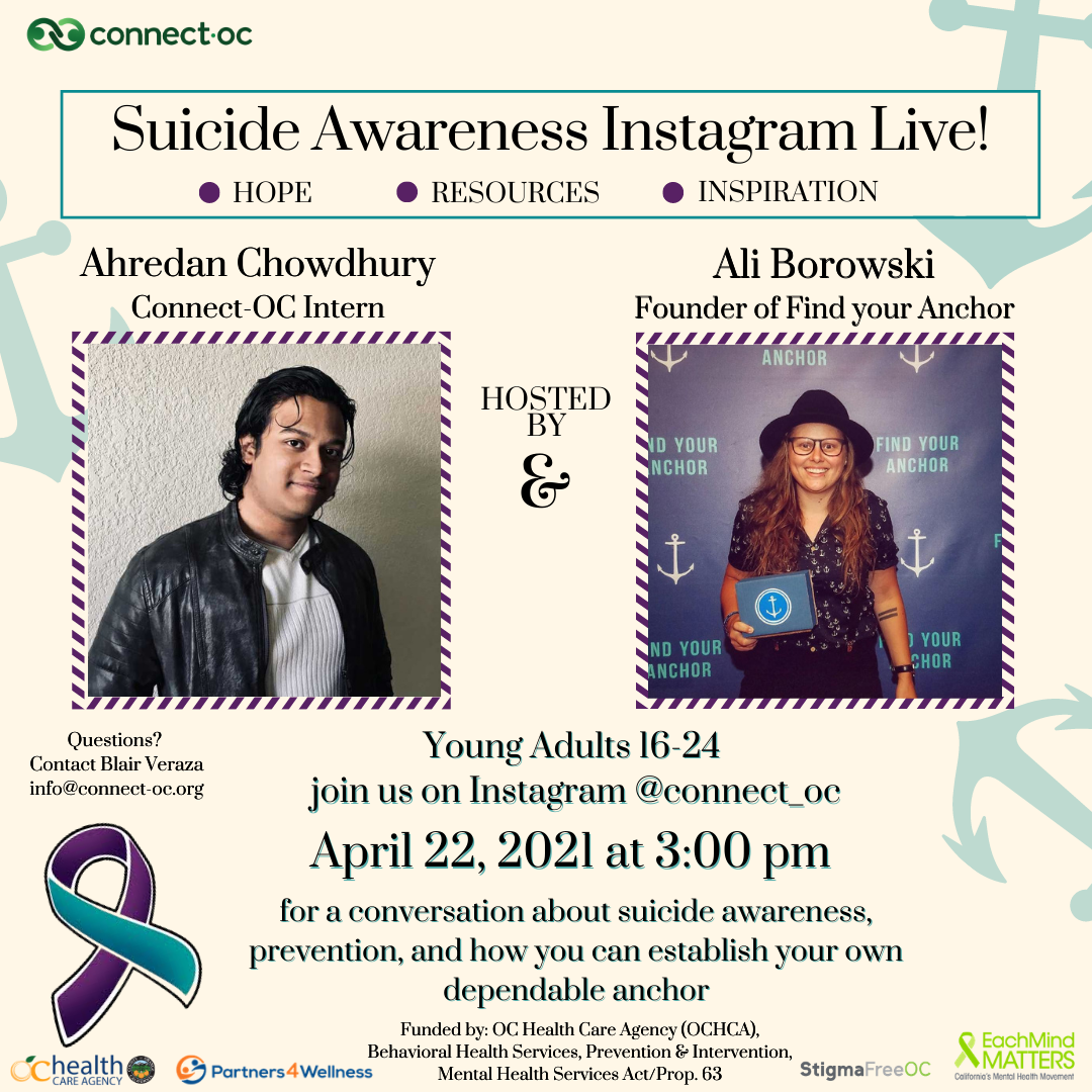 Instagram Live: Discussing Suicide Prevention with Find Your Anchor