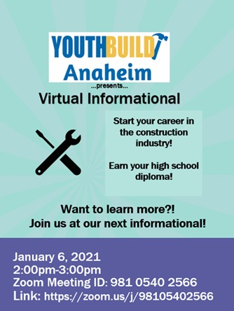 YouthBuild Anaheim Informational Event
