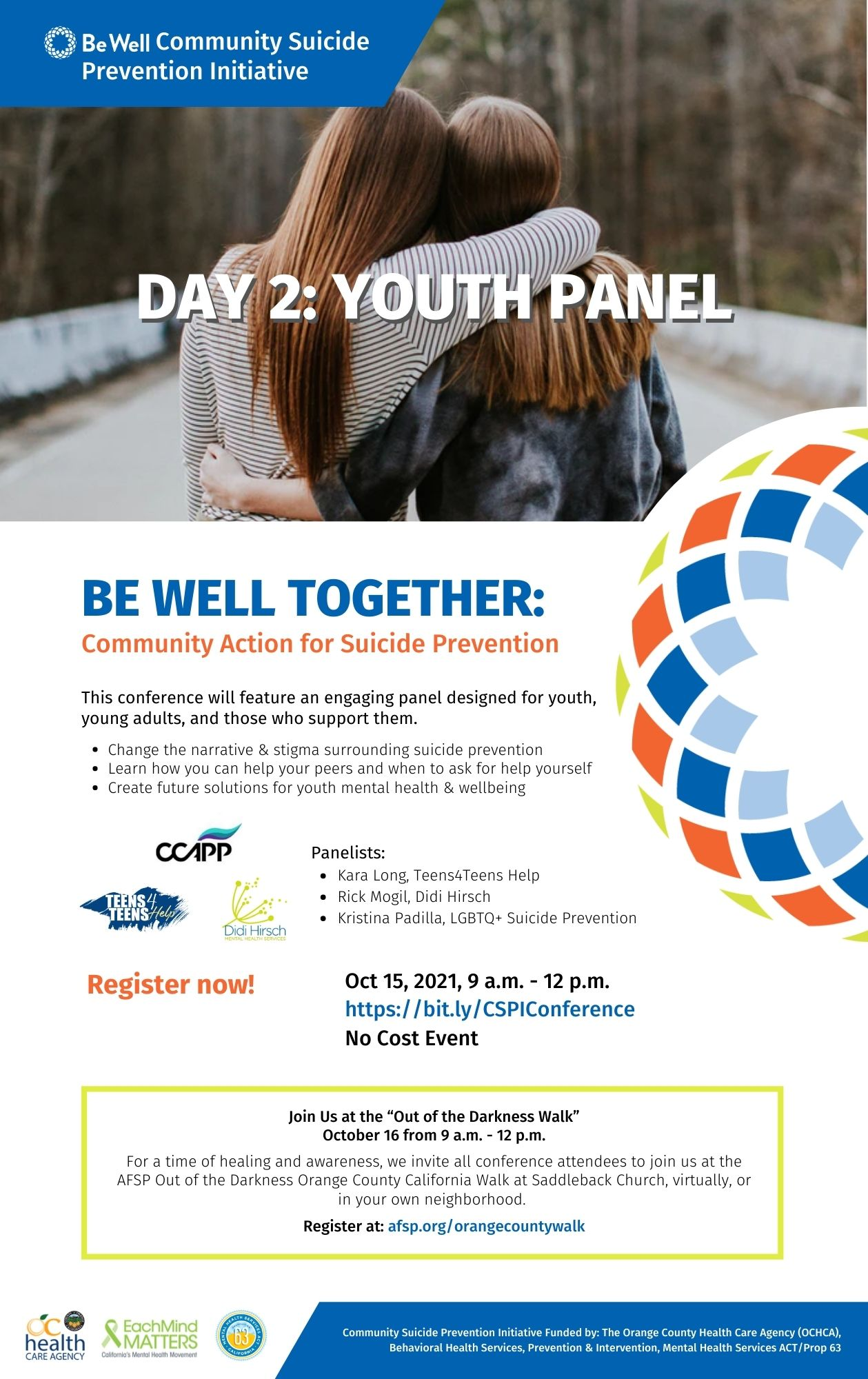Be Well Together: Community Action for Suicide Prevention Youth Panel